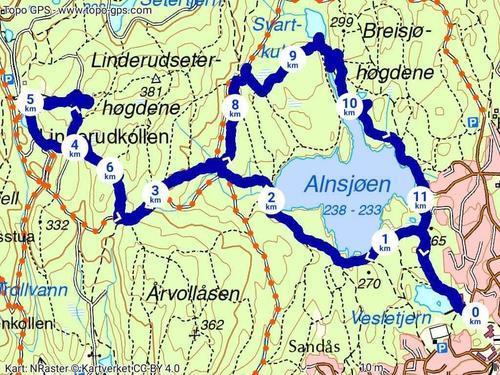 Vi går Alunsjøen rundt