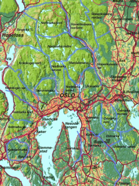 kart nordmarka oslo Områdekart — DNT Oslo og Omegn