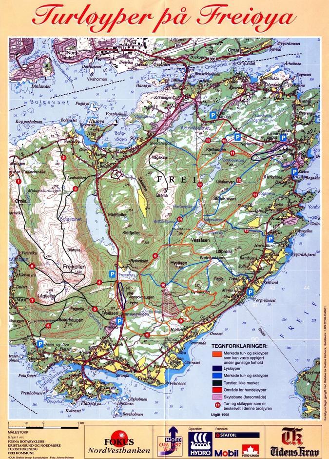 frei kart Turer, Frei, kart — Kristiansund og Nordmøre Turistforening frei kart
