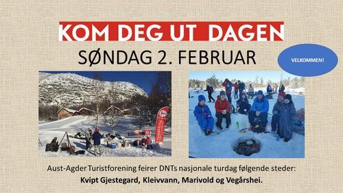 KOM DEG UT-DAGEN SØNDAG 2. FEBRUAR 2020