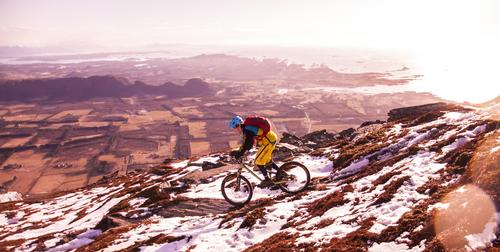 Sykkeltur på Sjuvarden i Fræna, Møre og Romsdal.