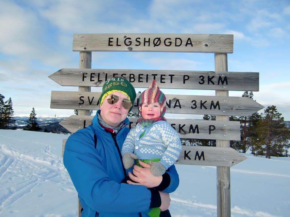 Elgshøgda i Skaun (537 moh.) ble besøkt 14. februar 2016.