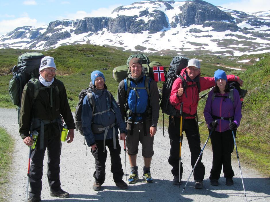 Klare for siste gåetappe til Haukeliseter fjellstue