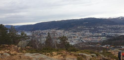 Damsgårdsfjellet er et av byens 7. fjell.