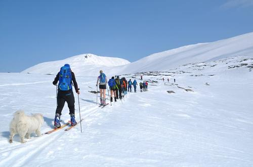 Bilete frå skitur til Veslefjelltind