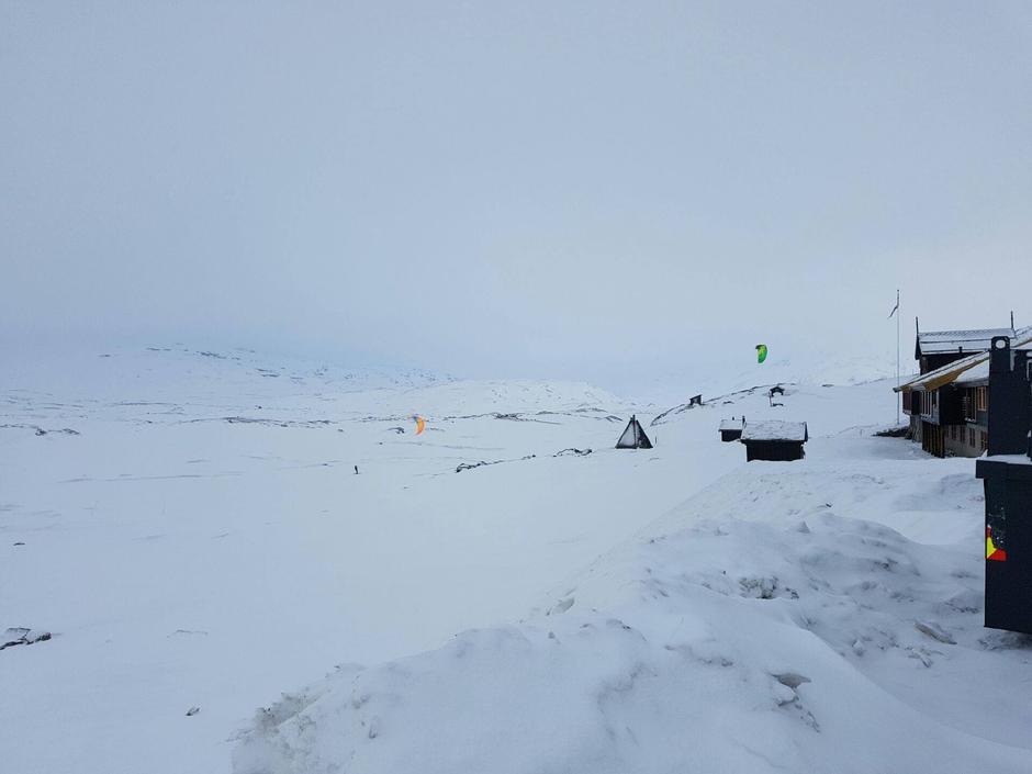 Haukeliseter fjellstue har gode vinter forhold og fikk også nysnø 29. januar