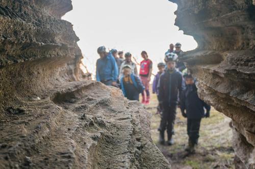 Bilde fra grottetur til Lønngangen i 2017