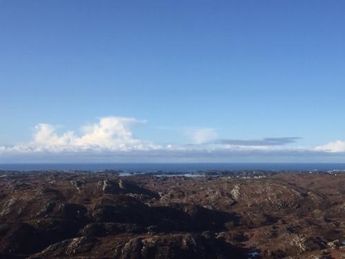 Utsikt fra Skjenet mot vest
