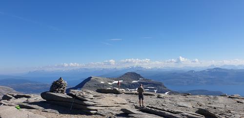 Helligtind sett fra toppen av Trollfjellet