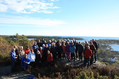 Seniortur på dagtid på Storevidden på Tromøya