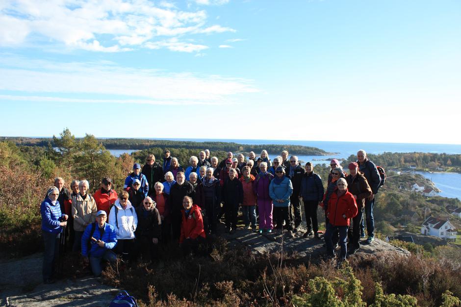 Glade turgåere på Storevidden på Tromøya.
