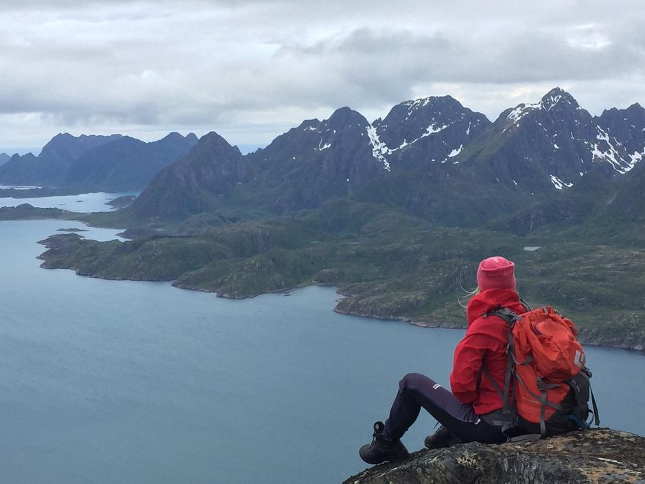 Fra Stortinden i Lofoten og Dronningvarden