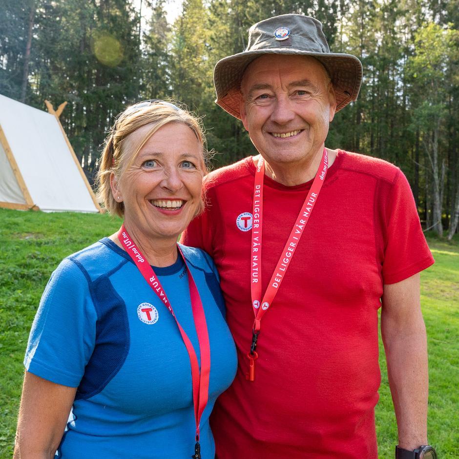 Stig og Sussanne er begge turledere i Lørenskog Turlag