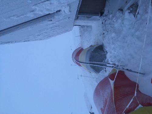 Teltcamp utenfor Høgevarde