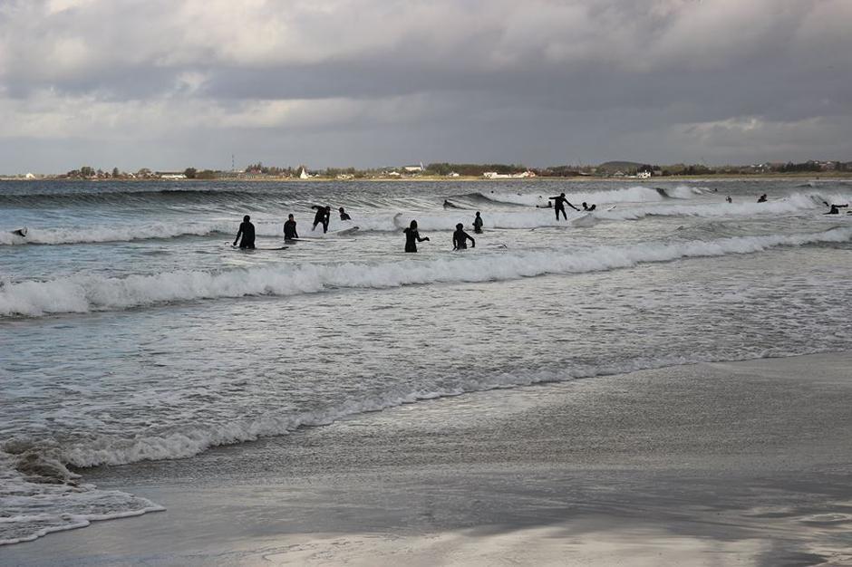 Surfing på Jæren høsten 2014