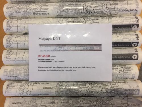 DNTs matpapir