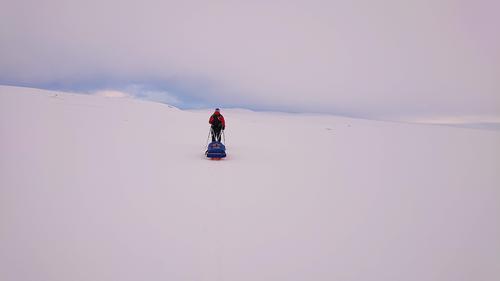 Nesten helt alene på Hardangervidda