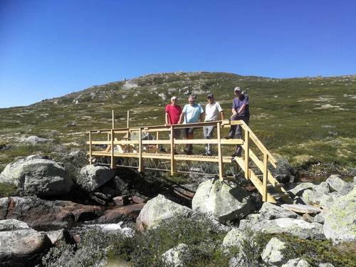 Ny bro på plass over Uppnesåi