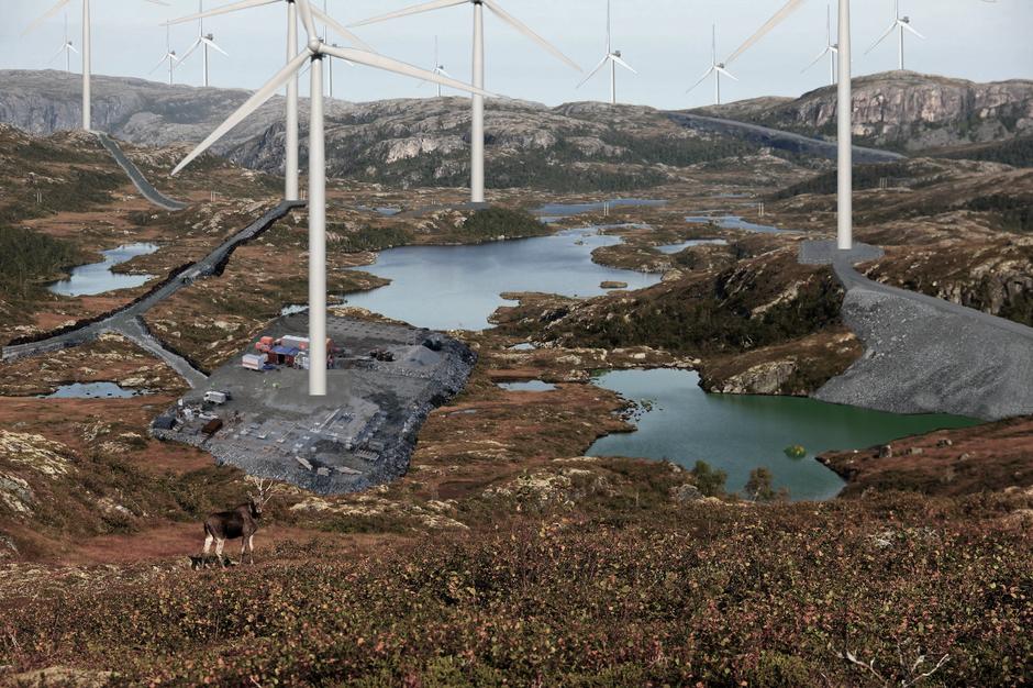 Eks på vindkraftanlegg som bygges på Snillfjord