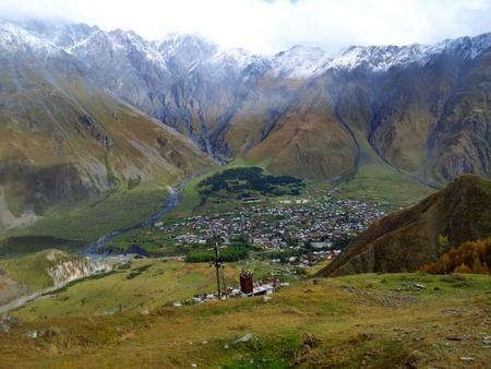 Utsikt mot Kazbegi