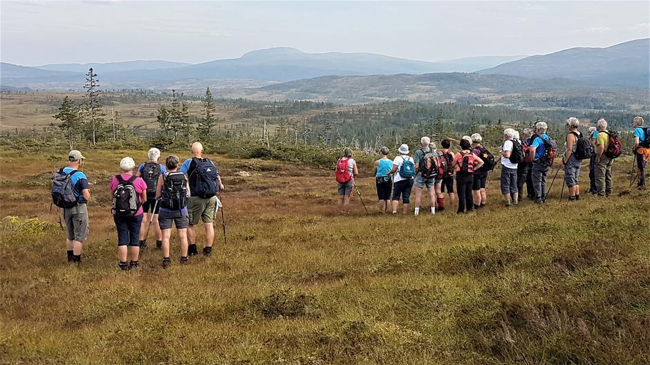 Utsikt fra Grønnvola - Hermannsnasa stikker opp bak Fersvola