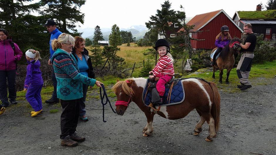 Ponniriding var veldig populært! Takk til OMC Shetland Pony Stud.