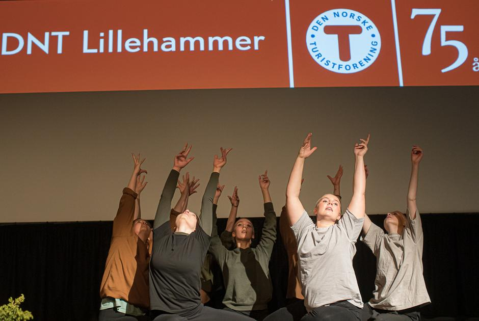 Elever fra Create - Lillehammer kreative videregående skole.