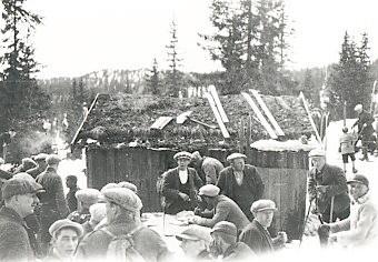 Traurenn på plassen til Andreas Dammyr, ca. 1930.