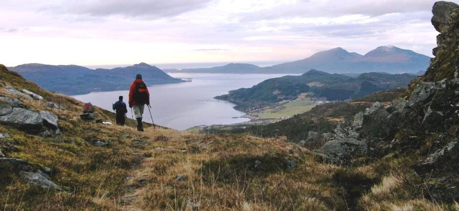 Fra Blåfjellet mot Halsafjorden