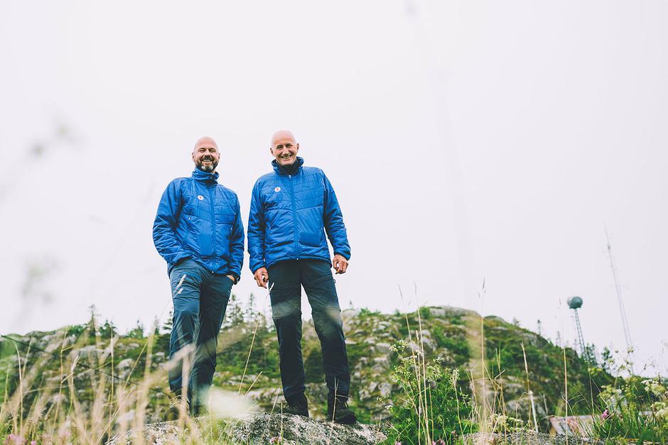 Generalsekretær i DNT Dag Terje Klarp Solvang og styreleder i DNT Per Hanasand