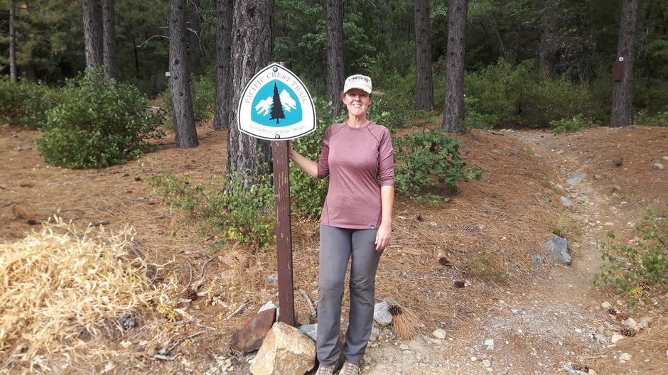 Lise Viken på Pacific Crest Trail, ved Sierra City i nord-California