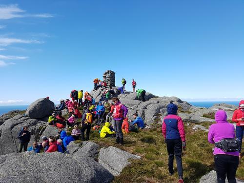 Blåkollen 393 moh på Skorpa