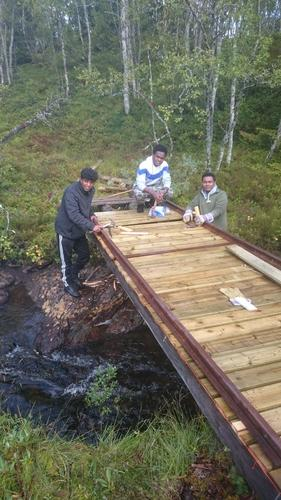 Ny bru over Svartåa i Meråker