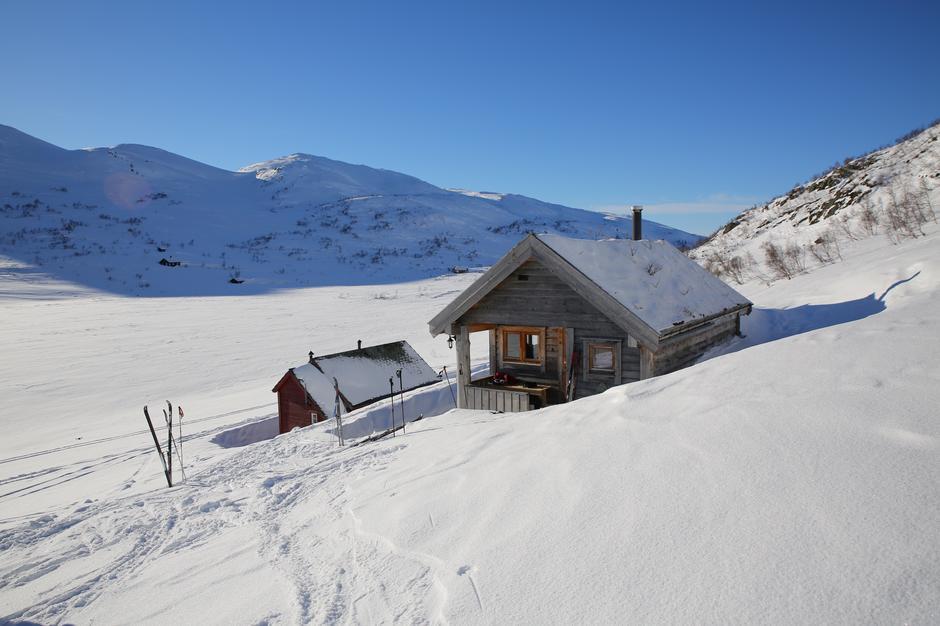 BT-hytten på Mjølfjell torsdag 22.februar.