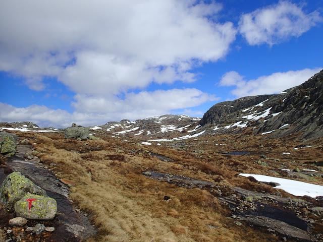 Stien inn mot Blåfjellenden.