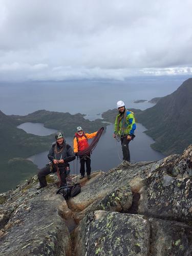 Herlig utsikt fra toppen av Hamarøyskaftet.