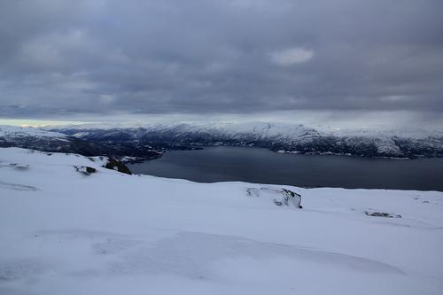 Daurmålsegga mot fjorden