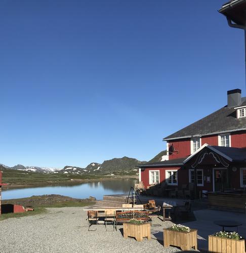 3. til 5. juli var det yoga og fjellturer på Bygdin Høifieldshotel