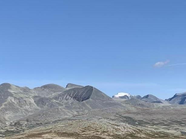Frostnetter og nysnø på Rondeslottet