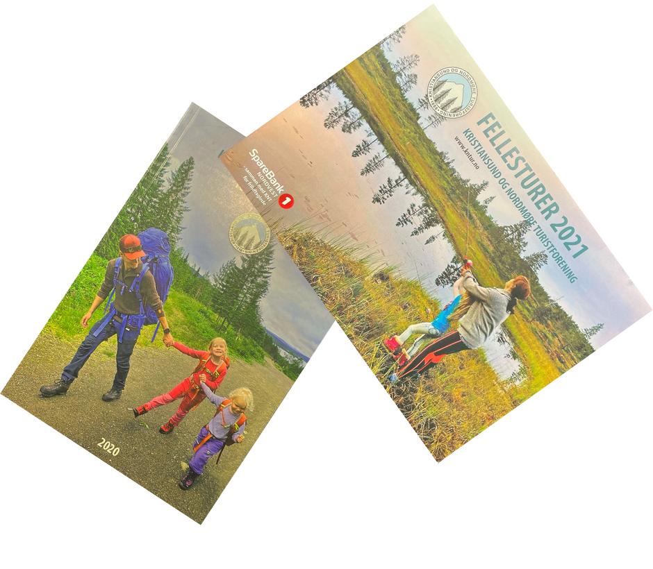 Fellesturhefte og årbok fra Kristiansund og Nordmøre Turistforening