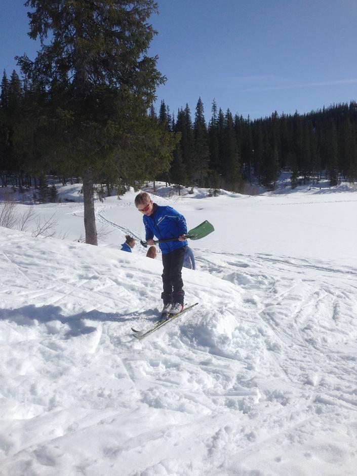 Fin dag for skihopp.