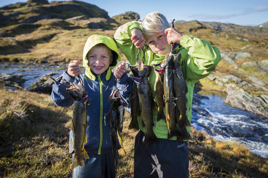 Ønsker du at barna skal ha slike fiskemuligheter i skogen i fremtiden? Bli med på restaurering av bekken til Goliaten