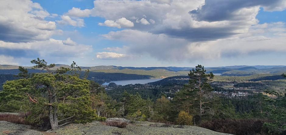 Denne utsikten får du fra vår nye gapahuk