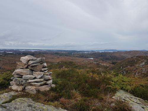 Utsikt nordover.