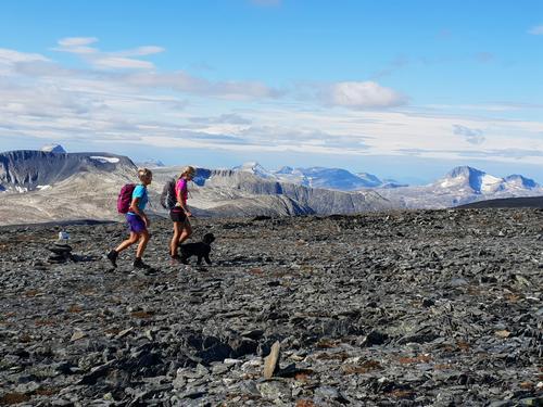 Fra toppen av Blåhøa er det vid utsikt over resten av Trollheimens eventyrlige fjellverden.