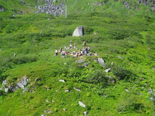 Trollfjordturen matpause ved øvre Austpollvannet 27.07.14