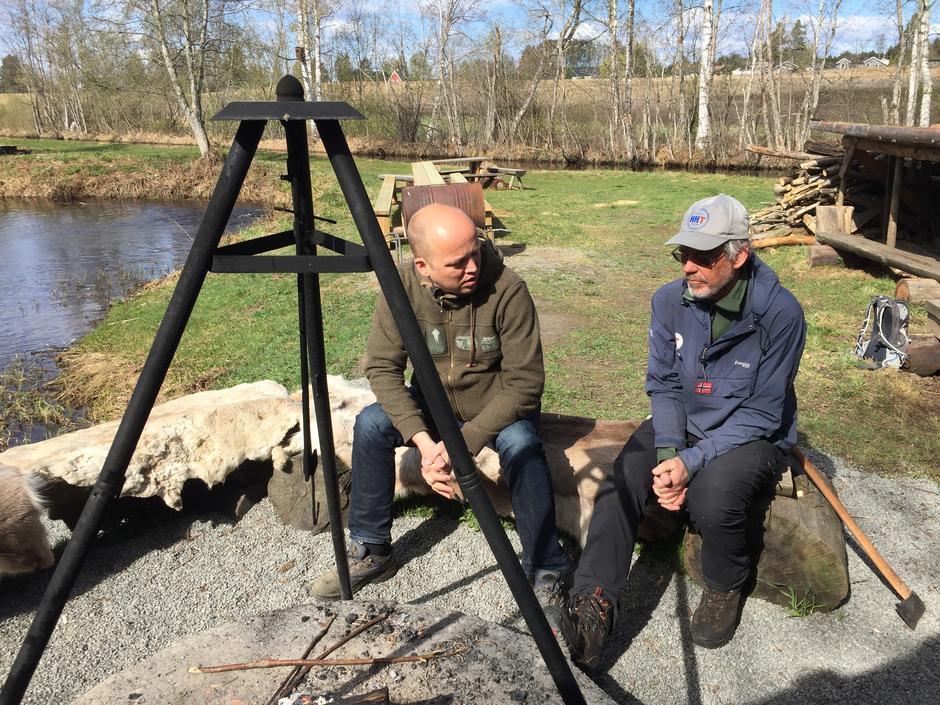 Trygve Magnus Slagsvold Vedum og Hans Kroglund gleder seg til tur på søndag