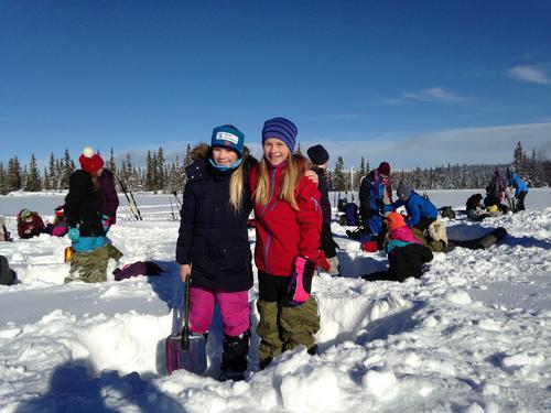 Bilder fra VinterBaseCamp på Åkersætra