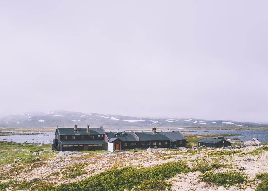 Sandhaug Turisthytte på Hardangervidda.