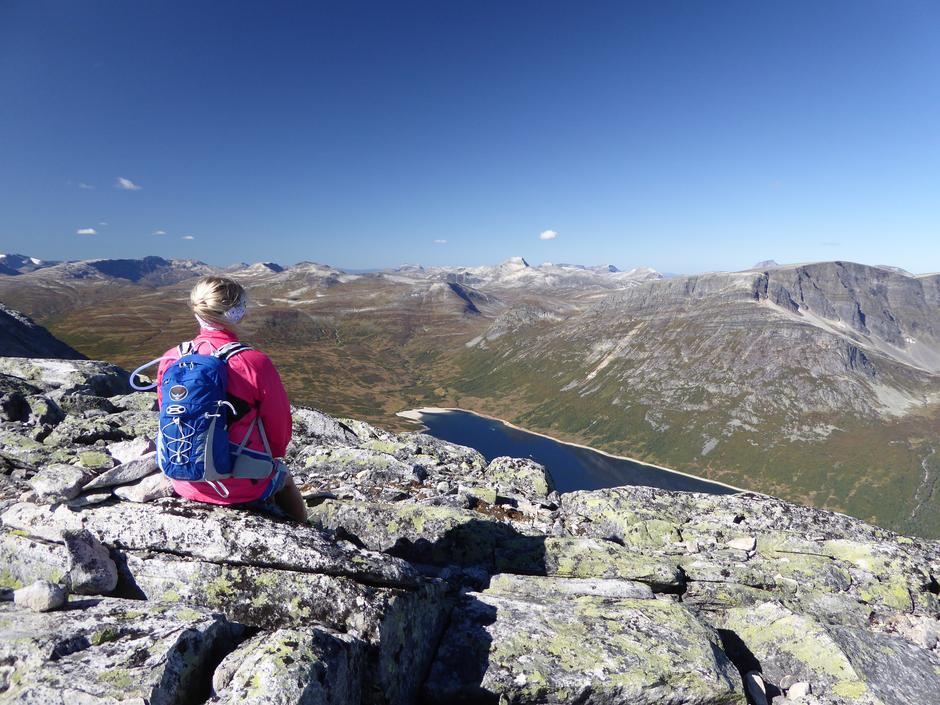 Utsikt fra Okla mot Vassenden og Indre Kammen
